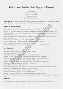 mainframe resume for 7 years experience resume sles mainframe production support resume sle