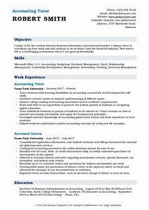 Accounting Tutor Resume Samples