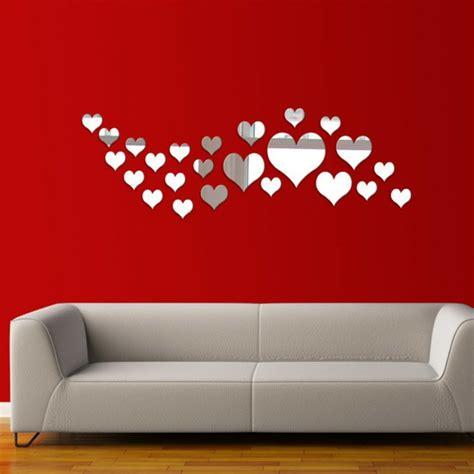deco de chambre adulte moderne les stickers miroir une idée créative pour la décoration