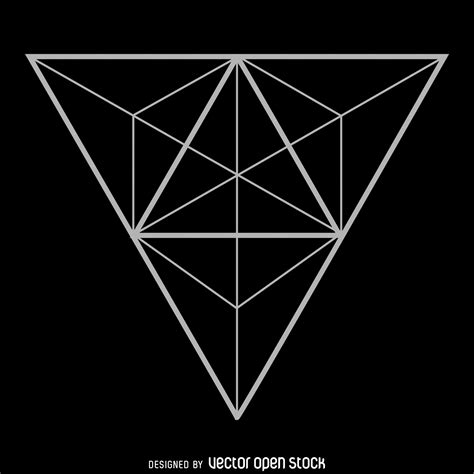 geometric triangle design triangle sacred geometry design free vector