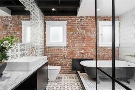 awesome brick walls   bathroom home design lover