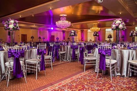 butterfly themed purple  silver wedding  delaware