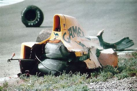 Martin Crash by 1990 Grand Prix Martin Donnelly S Lotus After The