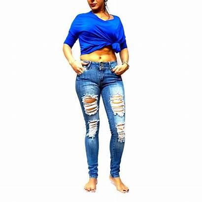 Jeans Ripped Jack David Womens Baddie Distressed