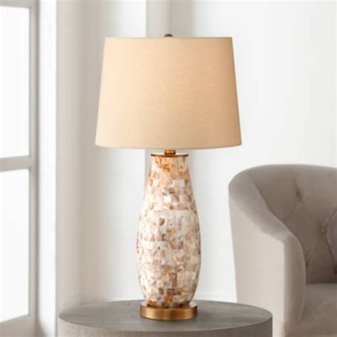 kylie mother  pearl tile vase table lamp