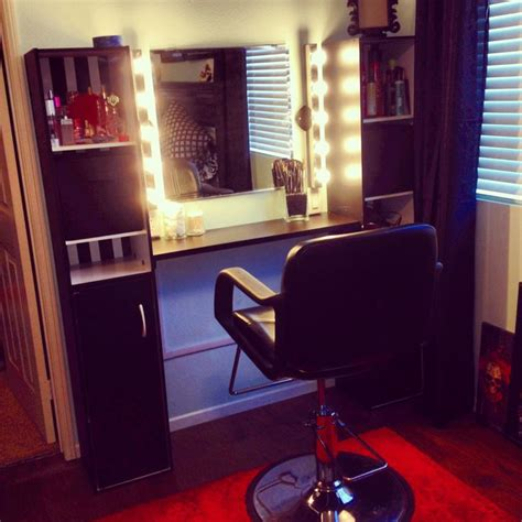 megan s diy vanity lights makeup bench home salon for