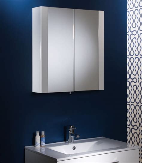 detail gloss white double mirror door cabinet tavistock