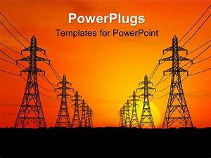 Powerpoint template high voltage electric power lines for Power plugs powerpoint templates