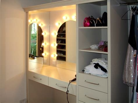 Wardrobe With Dressing Unit by S Dressing Table Bedroom Unit With Lights By Brian