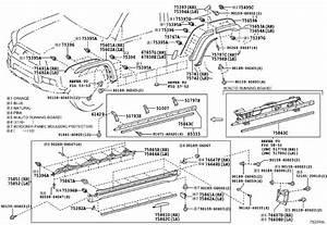 2015 Toyota 4runner Clip  Rocker Panel Moulding  Gdh - 7586702010