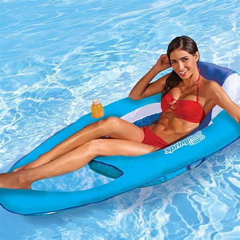 reclining pool float float recliner swimming pool float with mesh carry bag