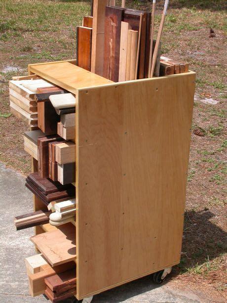 scrap cart lumber storage