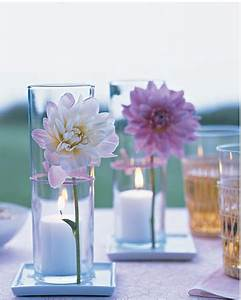 Flower Tied to Votive Centerpieces | Budget Brides Guide ...