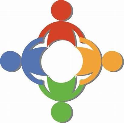 Hands Holding Teamwork Clip Circle Diverse Clipart