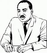 Luther Martin King Coloring Jr Mlk Printable Cartoon Clipart Dr Sheets Worksheets Clip Quotes Clipartmag Speech Quote sketch template