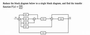 Solved  Reduce The Block Diagram Below To A Single Block D
