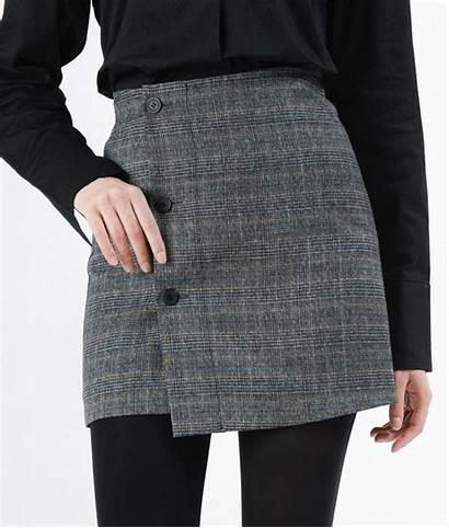 Skirt Button Wrap Office Skirts Perk Blouse
