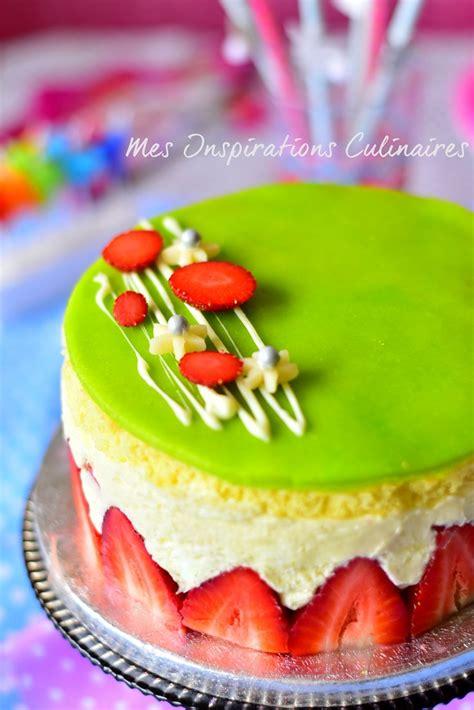 mousseline cuisine recette fraisier gâteau aux fraises facile le cuisine de samar
