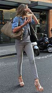 Grey Denim on Pinterest   Grey Jeans Gray Jeans and Brown Boots