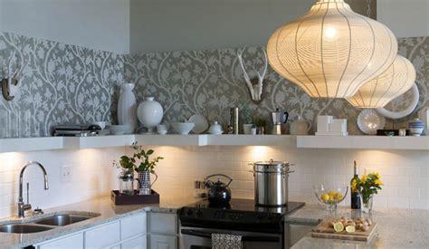 wallpaper backsplash design ideas
