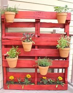 Cache Pot Mural : 11 id es pour l 39 application des palettes en bois dans le ~ Premium-room.com Idées de Décoration