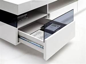 Tv Lowboard Glas : living media lowboard wei glas ~ Orissabook.com Haus und Dekorationen