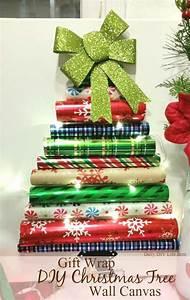 gift wrap diy tree wall canvas
