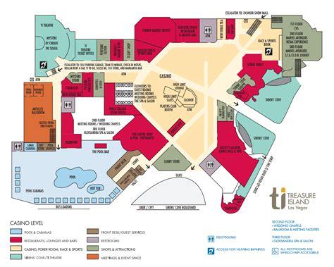 ti hotel property map treasure island hotel  casino