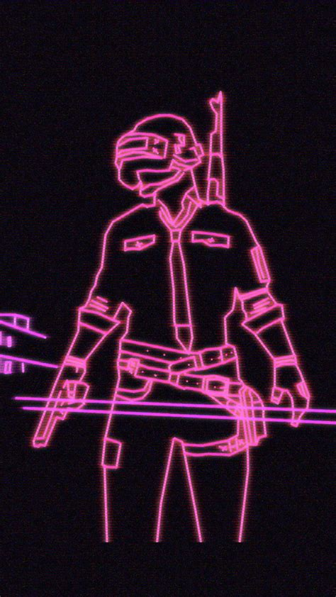 Neon Wallpaper Mobile by Neon Light Playerunknown S Battlegrounds Pubg