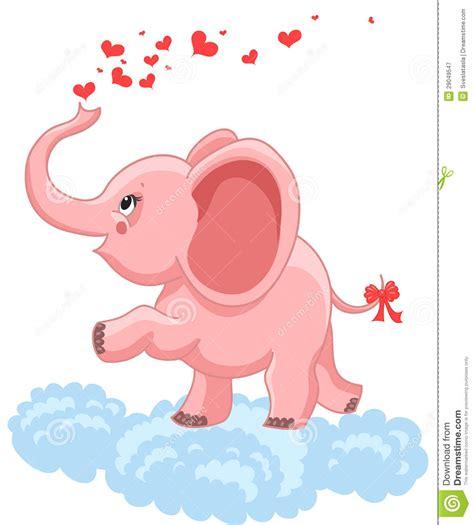pink baby elephant royalty  stock photography image