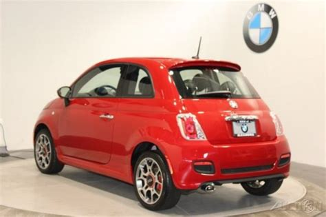 2015 Fiat 500 Red Hatchback Sport Beats Audio Pkg Comfort