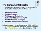 Fundamental Rights of Indian Citizens - Political Science ...