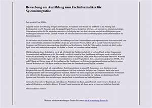Bewerben Für Oder Um : fachinformatiker f r systemintegration bewerbung um ausbildung muster und tipps ~ Watch28wear.com Haus und Dekorationen