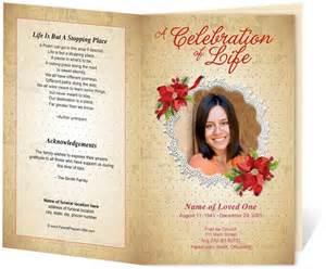 Free Funeral Program Template Memorial Service