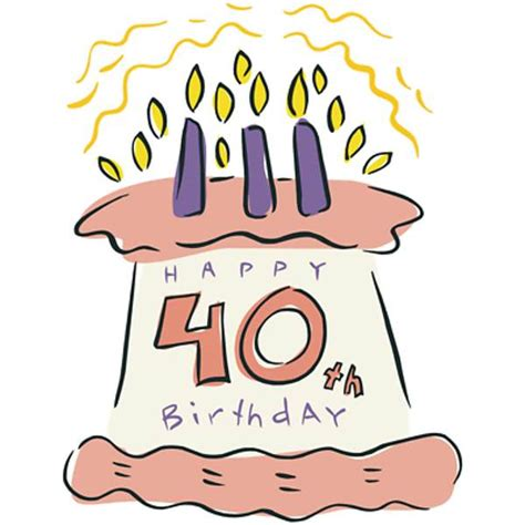 Easily add your own personal touch. Free 40th Birthday Clipart - ClipArt Best