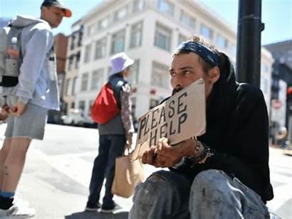 Francisco San Homeless Homelessness Downtown Crisis California