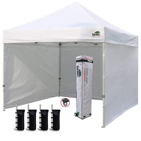 eurmax  ez pop  canopy outdoor canopy instant tent   zipper sidewalls  roller bag