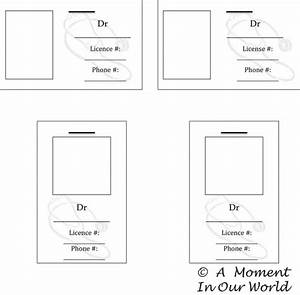 human body doctor39s bag a moment in our world With dr name tag template