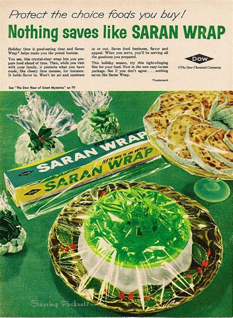 green kitchen decor  saran wrap vintage