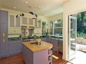 best colors to paint a kitchen pictures ideas from hgtv With kitchen colors with white cabinets with lavender fields wall art