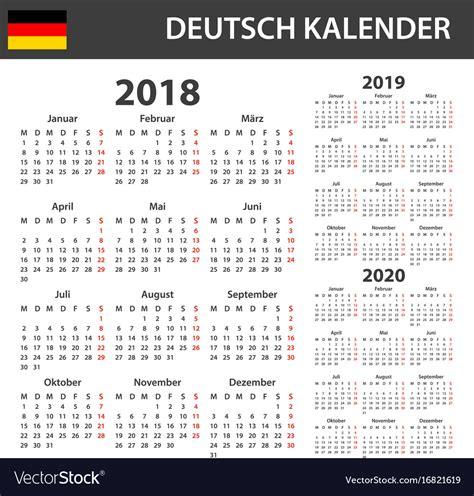 german calendar scheduler vector image
