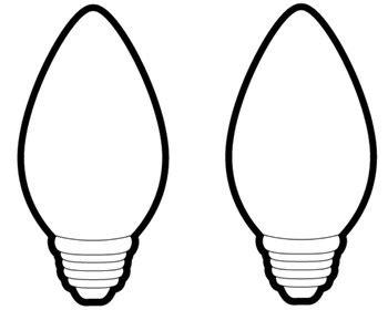 christmas light bulb printable clipart panda free clipart images