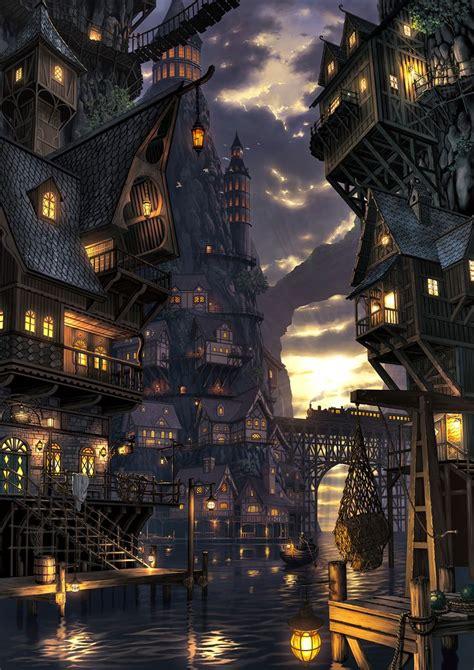 ideas  fantasy town  pinterest fantasy