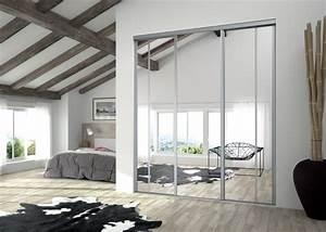 porte coulissante miroir porte placard miroir With porte d entrée alu avec miroir salle de bain avec lumiere