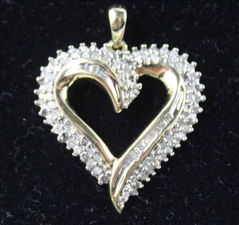 kay jewelers jwbr  gold diamond heart pendant