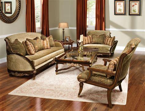 rosetta traditional style solid wood sofa furniture set