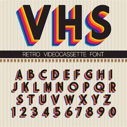 Font Retro Vector 90s 90 1990s Vhs