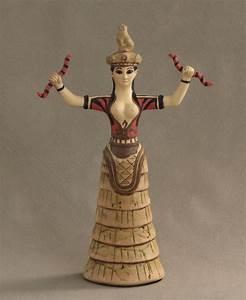 Minoan, Snake, Goddess, Statue, 12, Inches, U2013, Cultural, Elements