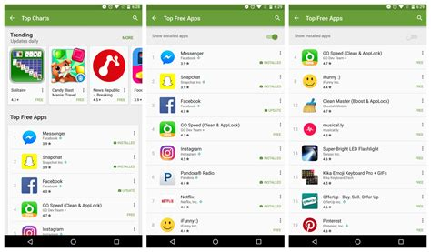 Google Play Rolling Out 'show Installed Apps' Toggle Android