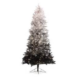 7 5 ft vintage black ombre spruce pre lit tree trees at hayneedle